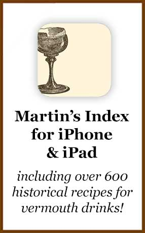 Martin's Index of Cocktails & Mixed Drinks for iPhone and iPod Touch